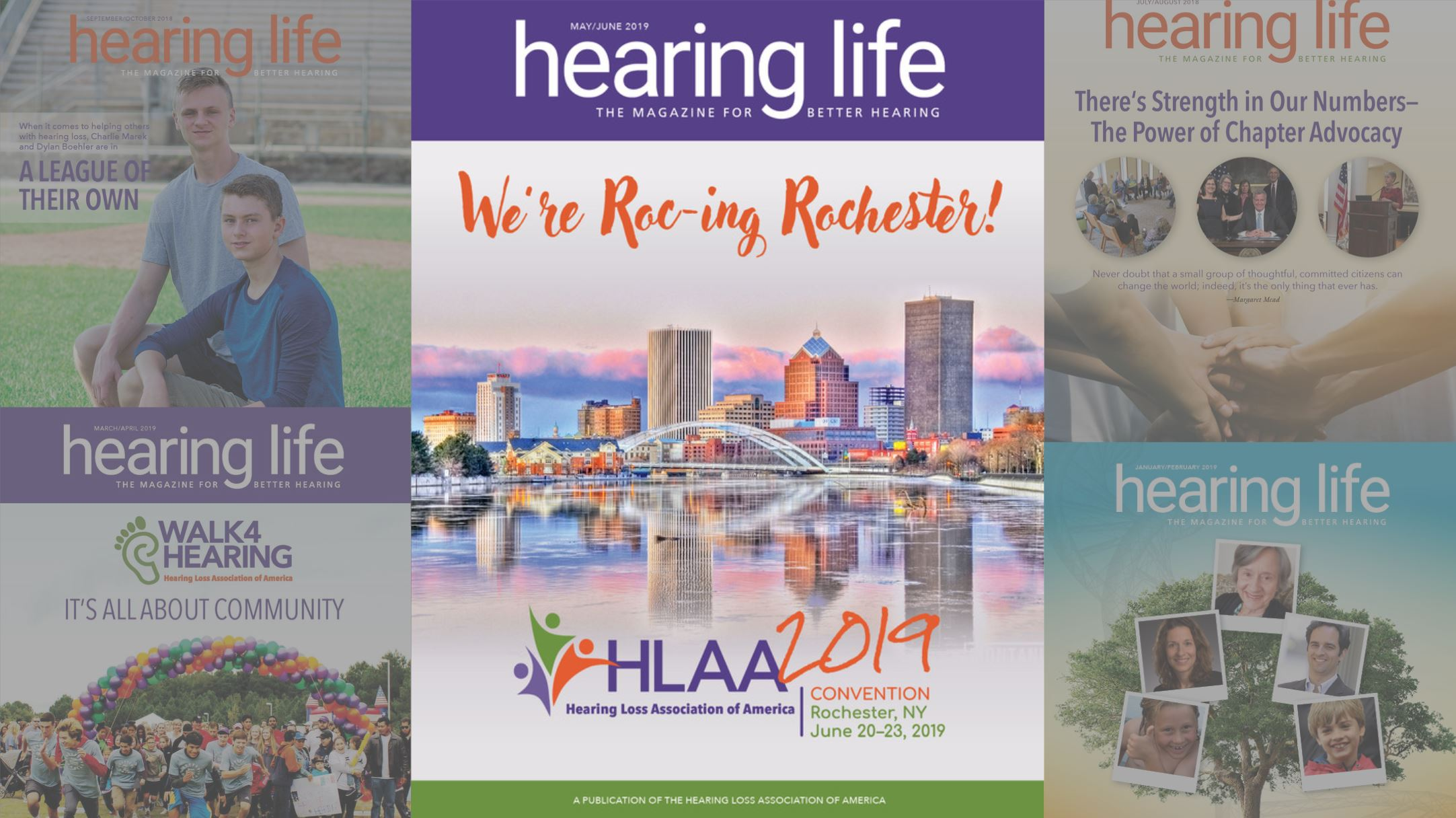hearing life magazine covers. Hearing Life magazine is the magazine for better hearing, and is a great resource for people with hearing aids, the hearing impaired, and cochlear implant users. This month features an article on hearOclub, the hearing aid battery delivery service.