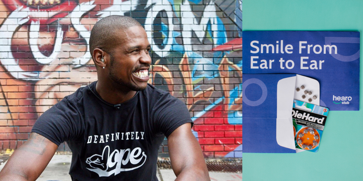 deafinitely dope founder Matt Maxey and hearOclub hearing aid batteries