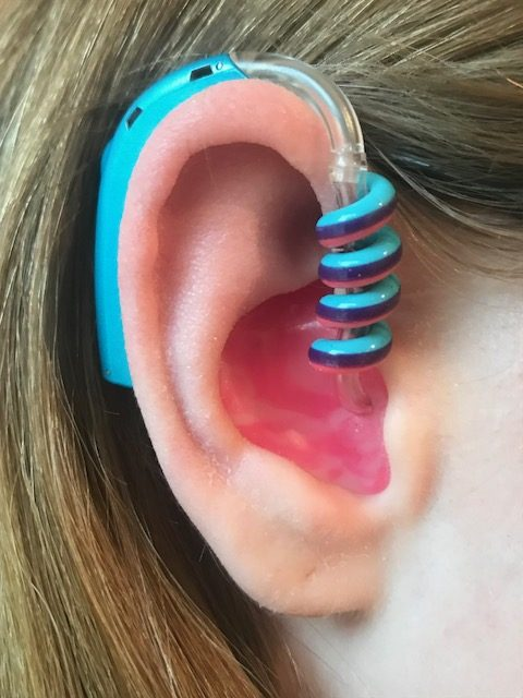 hearing aid tube twist